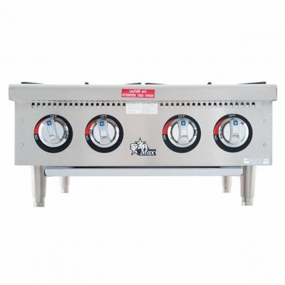 star max 604hf commercial gas hot plate front view