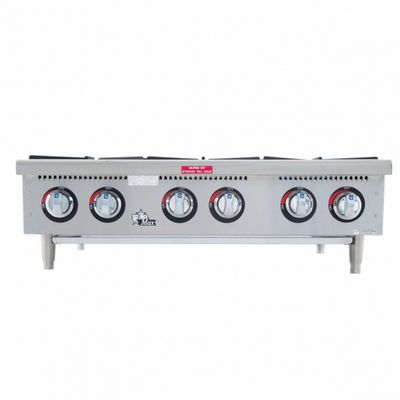 star max 606hf commercial gas hot plate front view