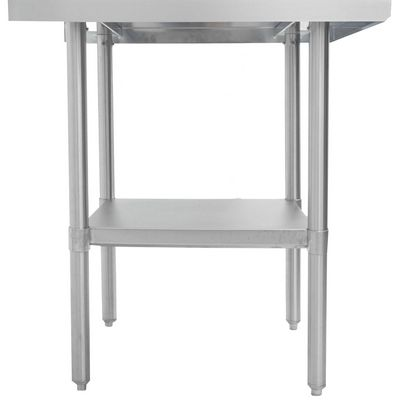 thorinox dsst-2448-ss stainless steel work table side view