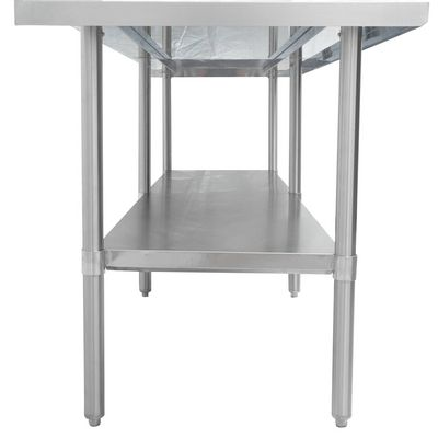 thorinox dsst-2496-ss stainless steel work table side view