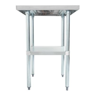 thorinox dsst-3048-gs stainless steel work table side view