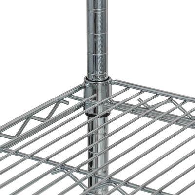 thorinox tcfs-1442 chrome wire shelving detail