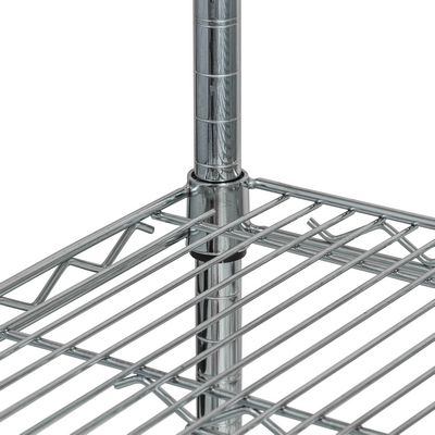 thorinox tcfs-2448 chrome wire shelving detail