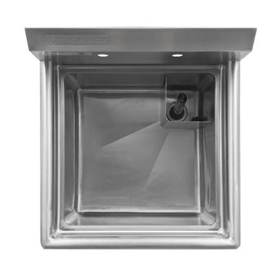 thorinox tss-1818-0 one compartment sink no drain board top view