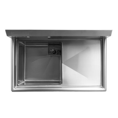 thorinox tss-1818-l18 one compartment sink left drain board top view