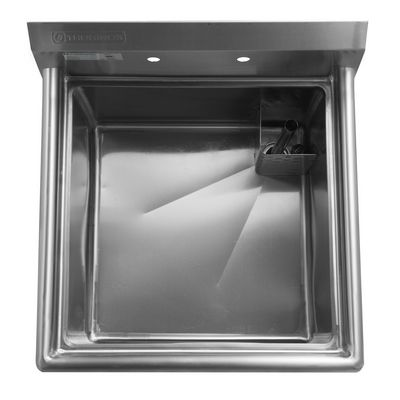 thorinox tss-1818-r18 one compartment sink right drain board top view