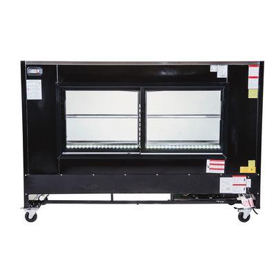torrey tem-200 refrigerated deli merchandiser back view