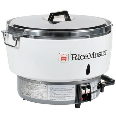 town rm55 commercial gas rice cooker side view