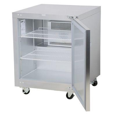 traulsen uht27r-sb undercounter refrigerator hinged doors stainless steel back door open