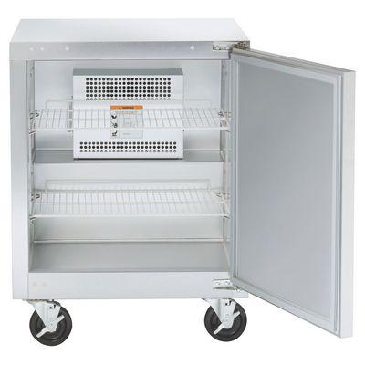 traulsen uht32r-sb undercounter refrigerator hinged doors stainless steel back door open