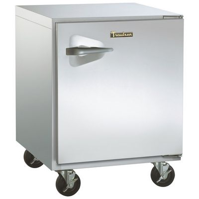 traulsen uht32r-sb undercounter refrigerator hinged doors stainless steel back left side view