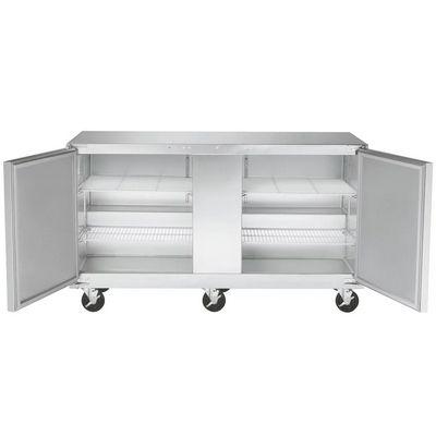 traulsen uht60lr undercounter refrigerator hinged doors stainless steel back door open