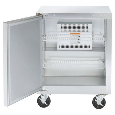 traulsen ult27l0-sb undercounter freezer hinged doors door open