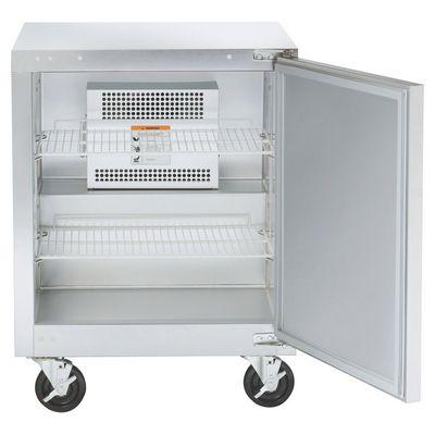 traulsen ult32r0-sb undercounter freezer stainless steel back door open