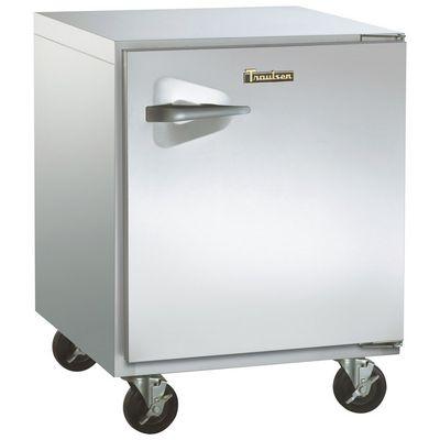 traulsen ult32r0-sb undercounter freezer stainless steel back left side view