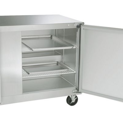 traulsen ult48lr-sb undercounter freezer stainless steel back door open