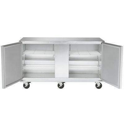 traulsen ult60lr-sb undercounter freezer hinged doors door open