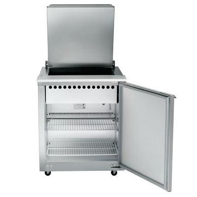traulsen upt2706r0 refrigerated sandwich prep table door open