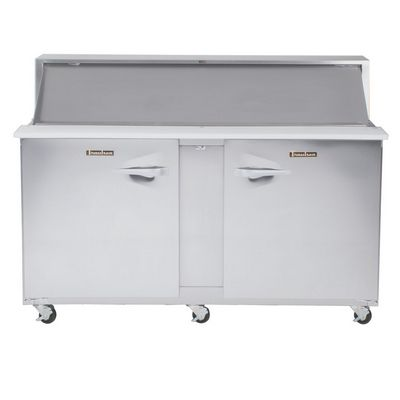 traulsen upt7218lr refrigerated sandwich prep table front view