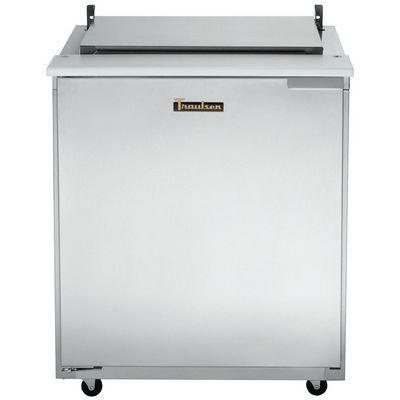 traulsen ust2706l compact sandwich prep table hinged flat top door closed