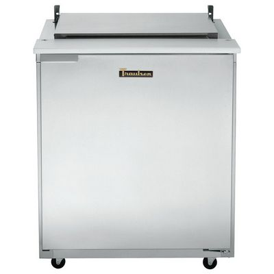 traulsen ust2709r-sb refrigerated sandwich prep table door closed