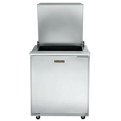 traulsen ust3212l-sb refrigerated sandwich prep table top door open