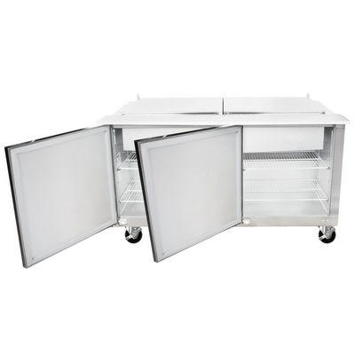 traulsen ust6024ll refrigerated sandwich prep table front door open