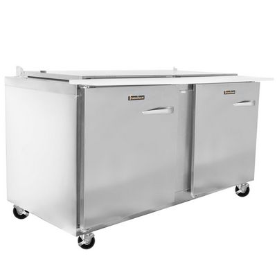 traulsen ust6024ll refrigerated sandwich prep table left side view