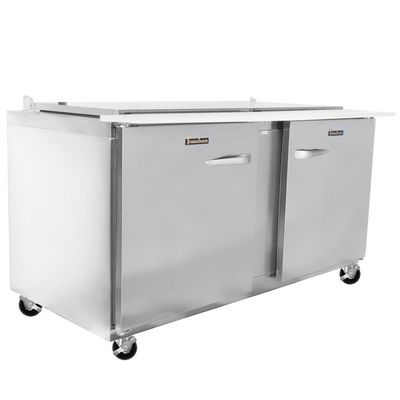 traulsen ust6024lr refrigerated sandwich prep table left side view