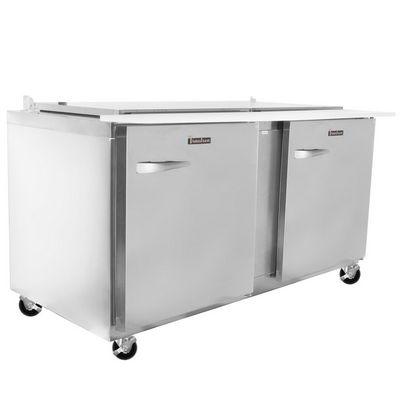 traulsen ust6024rr refrigerated sandwich prep table left side view