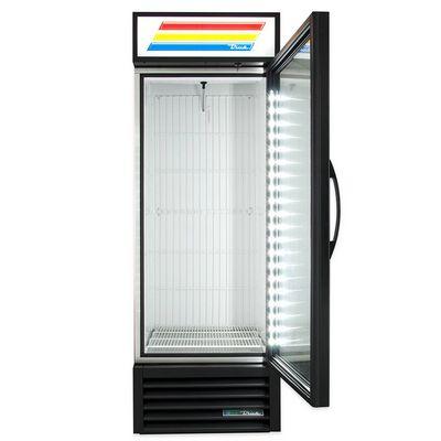true gdm-23f-ld glass merchandising freezer door open
