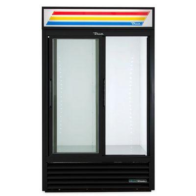 true gdm-41-hc-ld glass merchandising refrigerator door open