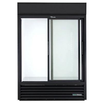 true gdm-47-ld glass merchandising refrigerator door open