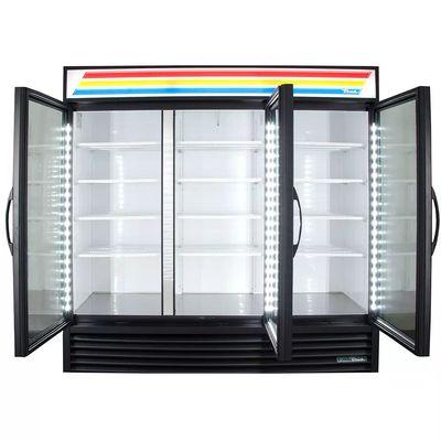 true gdm-72-hc-ld glass merchandising refrigerator door open