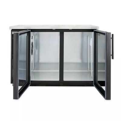 true tbb-24-48g-ld back bar refrigerator glass door door open