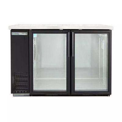 true tbb-24-48g-ld back bar refrigerator glass door front view