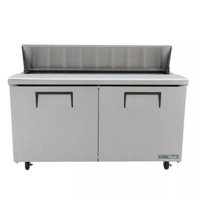 true tssu-60-16 sandwich prep refrigerator front view