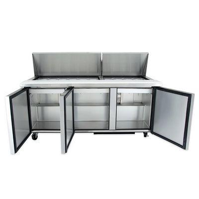 true tssu-72-30m mega top refrigerator door open
