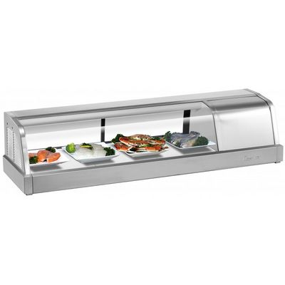 turbo air sakura-50 self-contained refrigerated sushi case right