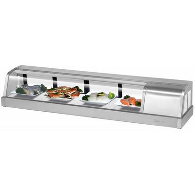 turbo air sakura-60 self-contained refrigerated sushi case right