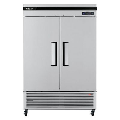 turbo air tsr-49sd reach in refrigerator front view