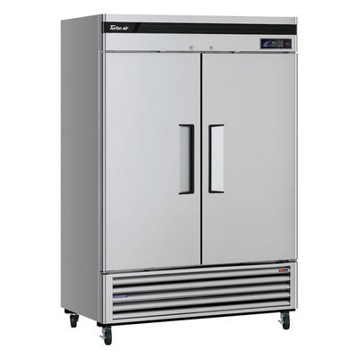 turbo air tsr-49sd reach in refrigerator left side view