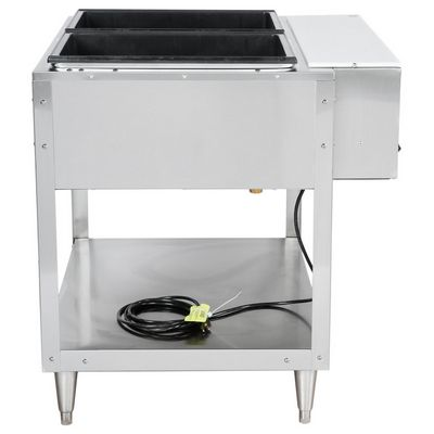 vollrath 38102 electric hot food table side view