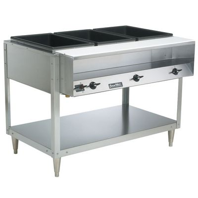 vollrath 38103 electric hot food table with empty pans