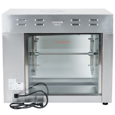 vollrath 40704 electric rotisserie oven back view