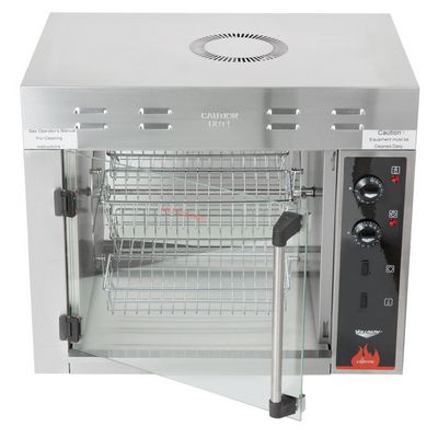 vollrath 40704 electric rotisserie oven door open