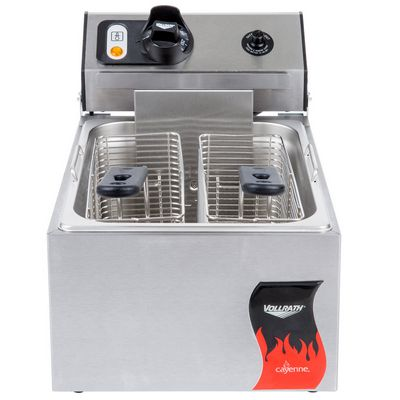 vollrath 40705 commercial countertop electric fryer front view