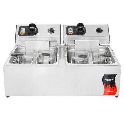 vollrath 40707 commercial countertop electric fryer front view