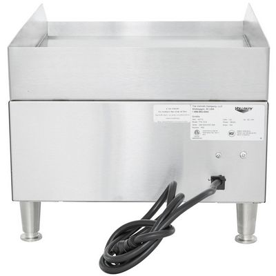 vollrath 40715 commercial electric griddle back view