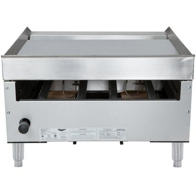 vollrath 40722 commercial thermostatic gas griddle back view